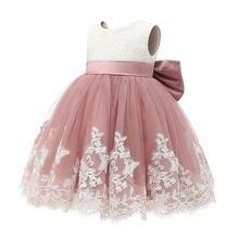 Летние Детские вечерние платья без рукавов для девочек кружевное