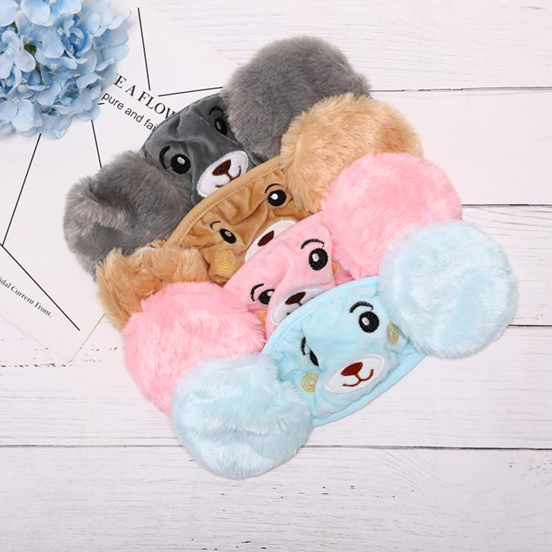 Autumn Winter Plush Children Cartoon Ear Protectors Cotton Bear Warm Earmuffs Warm Mouth Mask Unisex Ear Cover