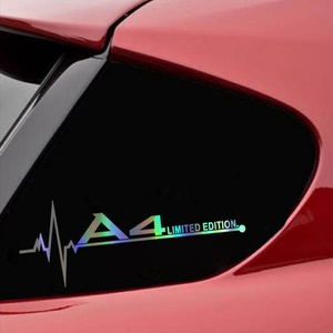 Limited Edition Car sticker and decals for Audi A3 A4 A5 A6 A7 A8 TT Q3 Q5 Q7 A1 B5 B6 B7 B8 B9 8P 8V 8L C6 C5 C7 4F