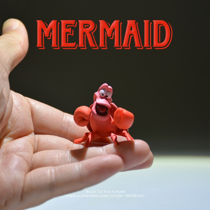 Disney Mermaid Princess Friends Cray Cartoon 3cm Mini Doll Action Figure Anime Collection Figurine Toy Model For Children Gift
