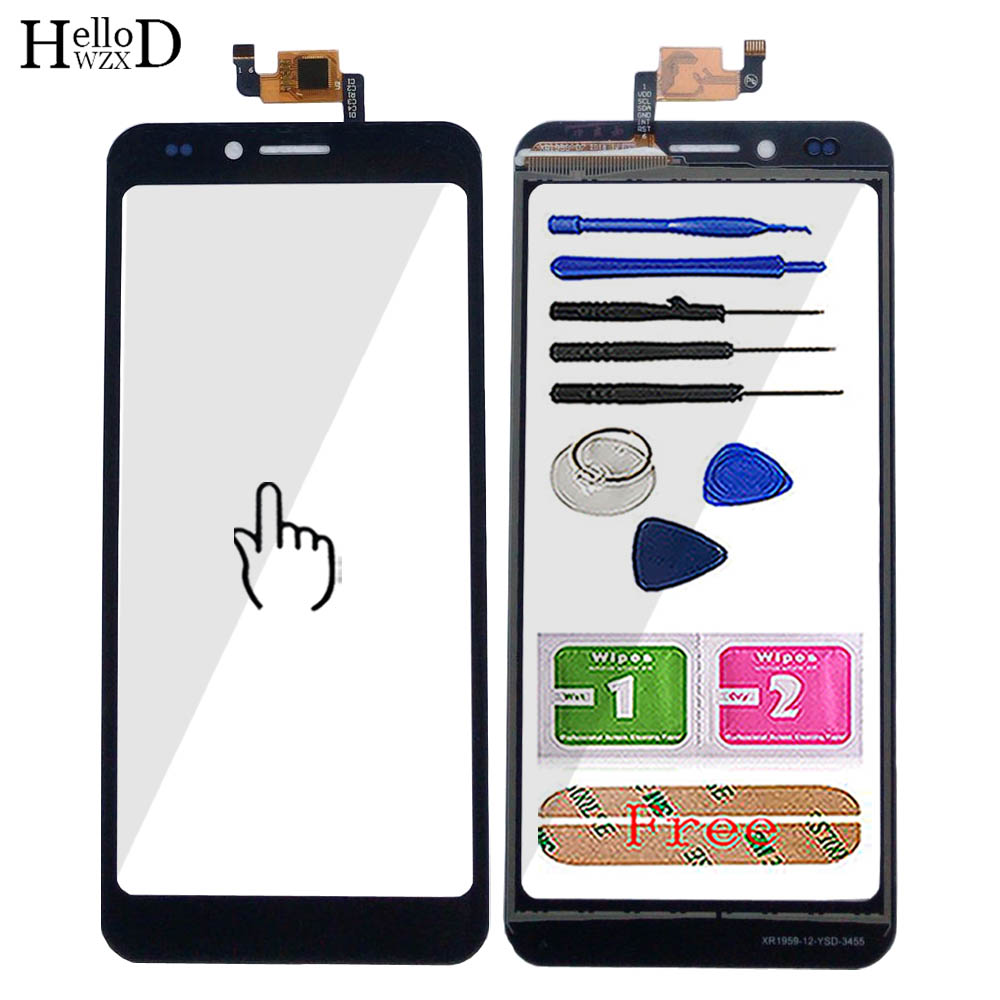 5.0'' Touch Screen For Senseit C155 Touch Screen Glass Sensor Panel Lens Digitizer Panel TouchScreen Front Glass Tools 3M Glue