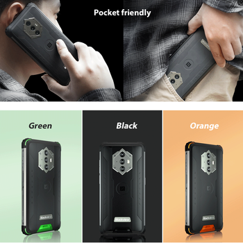 """Blackview BV6600 IP68 Waterproof 8580mAh Rugged Smartphone Octa Core 4GB+64GB 5.7"""" Mobile Phone 16MP Camera NFC Android 10 6"""