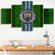 Premier League 5 Pieces Wall Art Prints Manchester City Football Posters Canvas Paintings Pictures Boys Sports Decor Frame