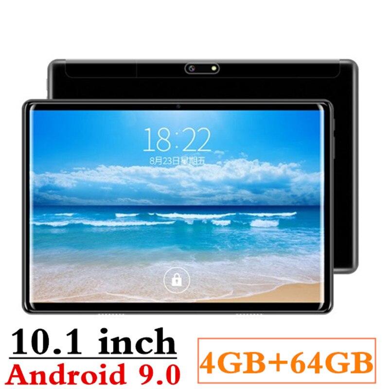 2.5D écran 4G RAM + 64G ROM 10.1 pouces 3G/4G LTE double carte SIM tablette pc Android 9.0 Octa Core PC tablettes 8MP GPS WIFI Bluetooth