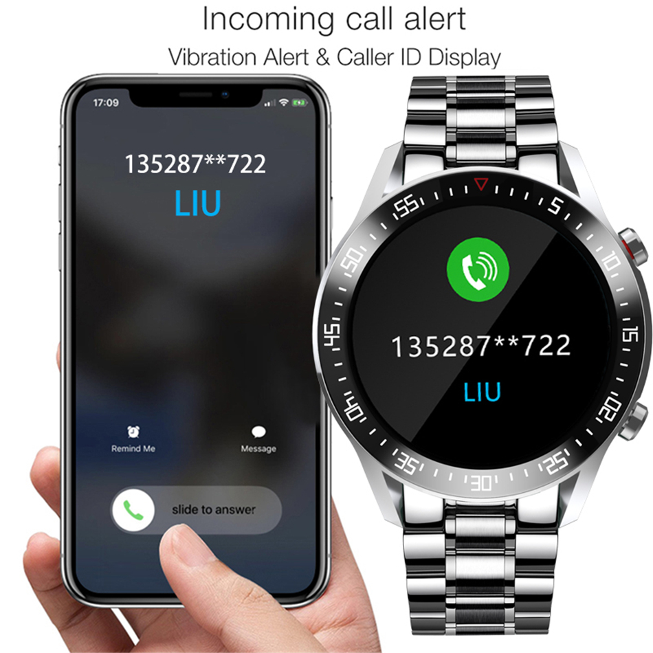 Hf2926bd095534c2aa875435881014aa3S LIGE Smart Watch Men smartwatch LED Full Touch Screen For Android iOS Heart Rate Blood Pressure Monitor Waterproof Fitness Watch
