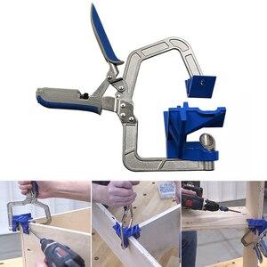Image 1 - Houtbewerking quick Tang klem haakse clip spalk 90 graden clip T clamp extra armatuur Bevestigingsclip houtbewerking DIY tool