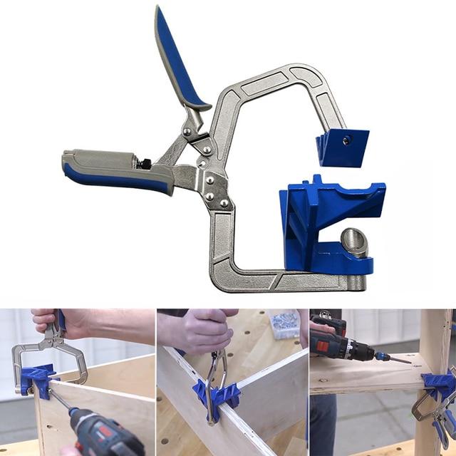ไม้ quick คีม clamp มุมขวาคลิป splint 90 องศา T clamp เสริม fixture คลิปงานไม้ DIY เครื่องมือ