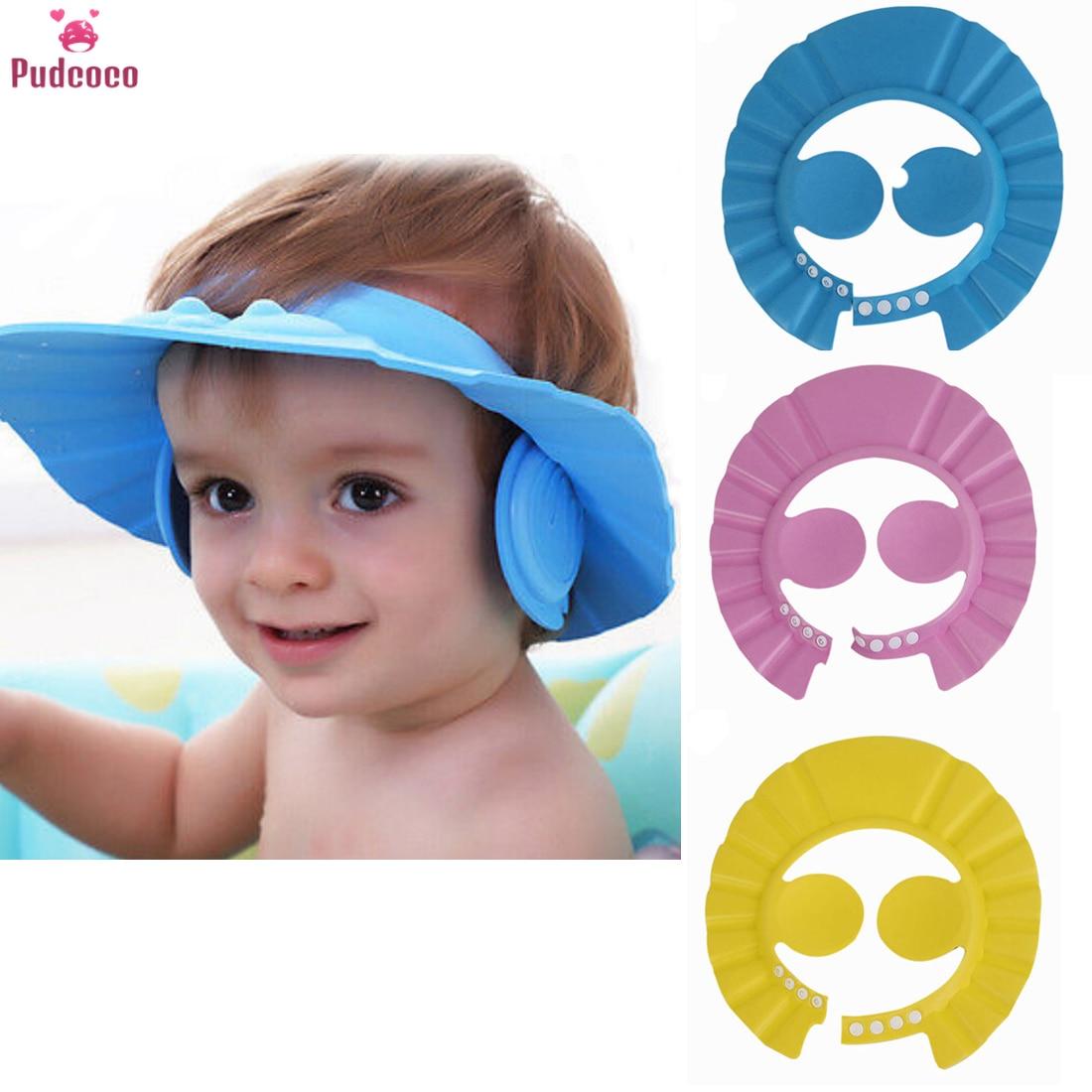 Adjustable Prevent Water Into Ear Baby Waterproof Shampoo Caps Children Kids Bath Wash Hair Shield Shower Hats