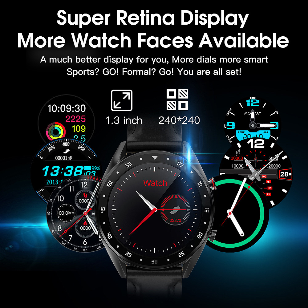 2019 Bluetooth smart watch Blood pressure monitor IP68 smart Sport bracelet waterproof for Android for IOS Monitor <font><b>Smartwatch</b></font> <font><b>L7</b></font> image