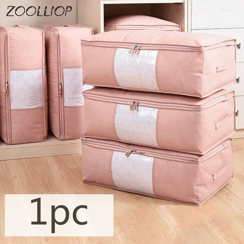 Fashion hot 1PC Household Items Storage Bags Organizer Clothes Quilt Finishing Dust Bag Quilts pouch Washable quilts bags|Storage Bags| - AliExpress