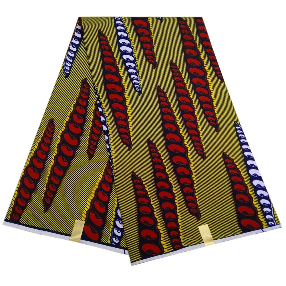 African Wax Fabric Java Wax Ankara Fabric For Dress Guaranteed Quality Pagnes Batik
