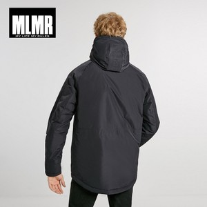 Image 3 - Jackjones Mannen Hooded Parka Jas Lange Gewatteerde Jas Jas Mode Menswear Basic 218309529