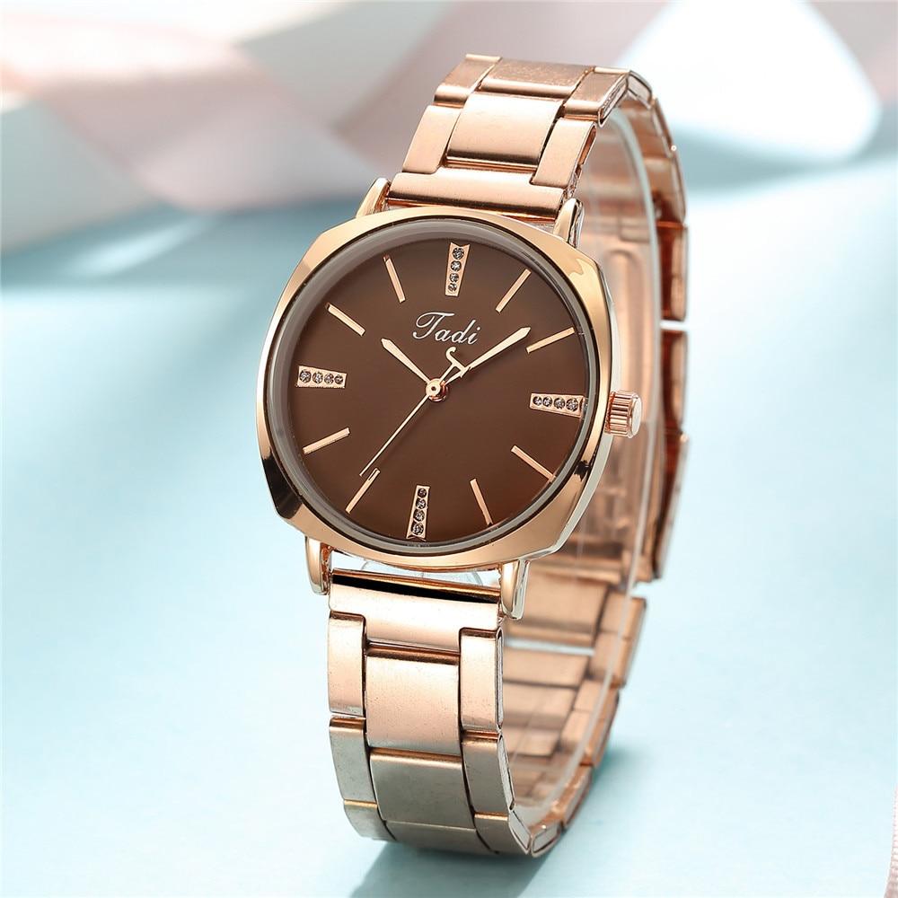 Women Watch Korean-style Fashion Simple Luxury Trend Alloy Steel Table Hand Watch Diamond Disign Quartz Steel Belt Ladies Clock