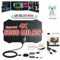 ТВ-антенна высокой четкости 5000 миль 4K HD комнатный цифровой ТВ-усилитель воздушного сигнала.