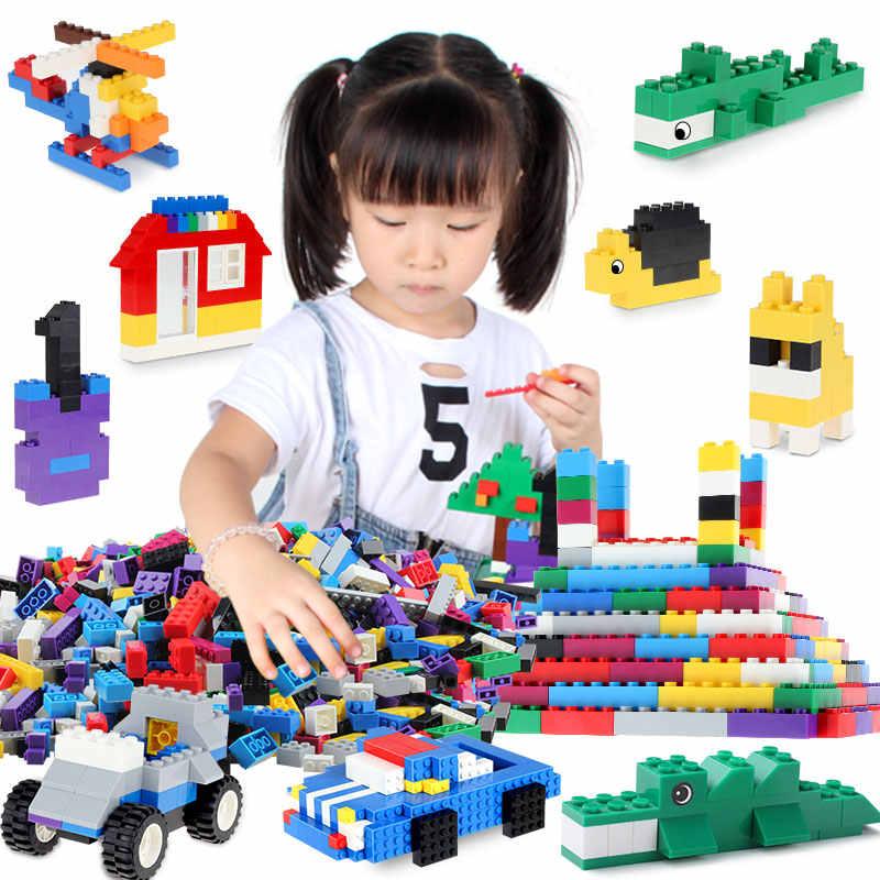 1000/500 個ビルディングブロックセットクリエーター市 DIY クリエイティブ子供のおもちゃ教育バルクレンガと互換性 LegoED 小さなブロック