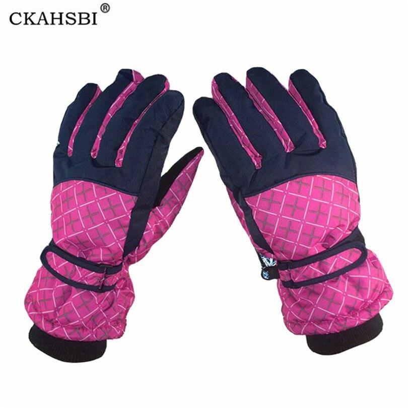 CKAHSBI Women Men Ski Gloves Winter Waterproof Outdoor Snowboard Mittens Cycling Snow Mittens Anti Skid Sports Skiing Gloves