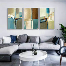 Картина маслом фуватакчи абстрактный цветной блок настенные