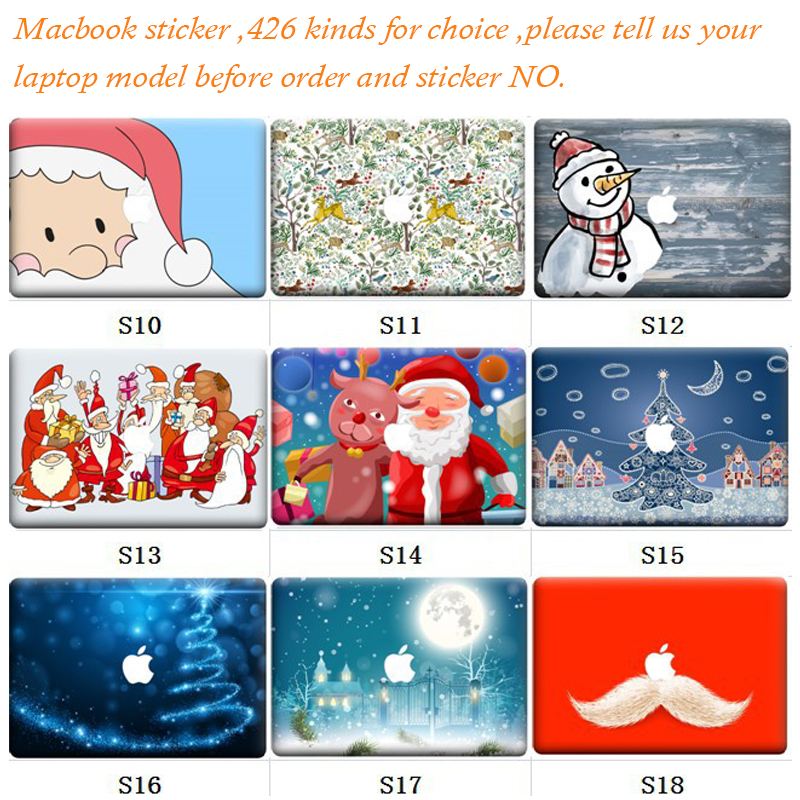 5pcs/Lot Random Sending 426 Kinds Skins New Laptop Sticker For MacBook Air Pro Retina 11 13 15 Sticker Vinyl Partial Decal