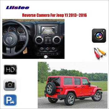 Cámara de Vista trasera de marcha atrás de coche para Jeep YJ TJ JK J8 2013 ~ 2015 2016 Compatible con la pantalla Original RCA adaptador de cámara de respaldo