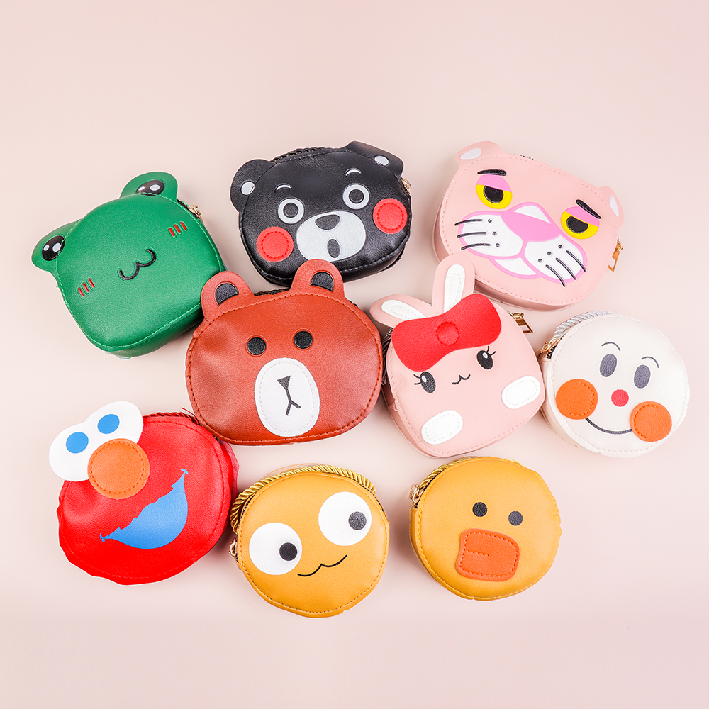 HAWSON Cute Child PU leather Shoulders Bags Multi-color Cartoon Animal Crossbody bags for Kids Wallets Pouch Bags
