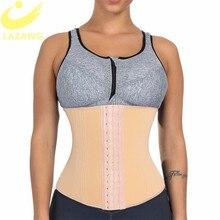 LAZAWG Women Tummy Control Belt Waist Trimmer Slimming Shapewear Heat Body Shaper Slim Strap Seamless 16 Steel Bones