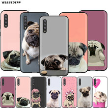 Webbedepp Animal Bonito Cão Pug Case for Samsung Galaxy S7 S8 S9 S10 Plus Nota Borda 10 8 9 A10 a20 A30 A40 A50 A60 A70(China)