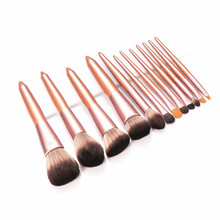 12pcs Champagne Makeup Brushes Set For Foundation Powder Blush Eyeshadow Concealer Lip Eye Make Up Brush Cosmetics Beauty Tools 10pcs makeup brushes set foundation powder blush eyeshadow concealer lip eye make up brush cosmetics beauty tools
