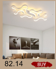 Creative modern led ceiling lights living room bedroom study balcony indoor lighting black white aluminum ceiling lamp fixture