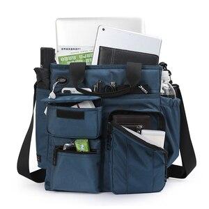 Image 4 - Bolso de mano de alta calidad para hombre, bolsa de hombro masculina de negocios para Ipad de 9,7 pulgadas, bolso de transporte diario urbano, bolso cruzado con muchos bolsillos