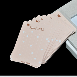 20 Pieces Rectangular Hair Clip Display Cards, Jewellery Cards, Earring/Necklace/Hair Clip/Price Tags