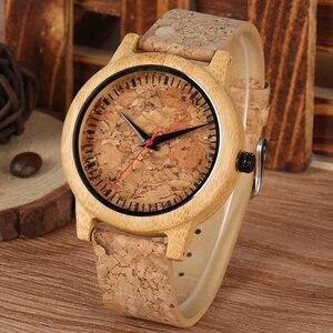 Деревянные часы для влюбленных Пара мужские часы женские часы Reloj Hombre мода коричневый кожаный ремешок часы Топ сувенир подарки