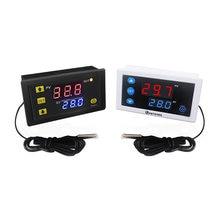 W3230 dc12v 24v AC110V-220V10A controlador de temperatura digital display led relé saída termostato aquecimento interruptor controle refrigeração