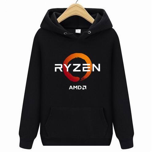 PC CP CPU Uprocessor AMD RYZEN Hoodies Men/women2019 NEW 3D/Polyester Hoodie Sweatshirt Spring Autumn Male/ladies Bike Hoodies