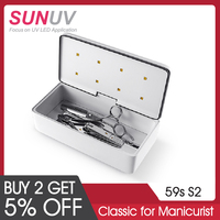 SUNUV 59S UV Sterilizer Box Beauty Tools Sterilizer Storage Box S2 Portable Disinfection Box for Salon Nail Art Tools
