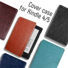 Pu Leather Case Voor Amazon Kindle 4 Kindle 5 Magnetische Cover Voor Kindle Basic 4/ 5 D01100 E-reader E-Book Funda Capa + Screen Film(China)