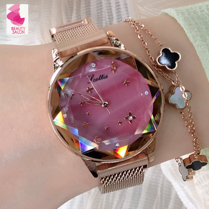 Luxury Women Watch Ladies Magnet Buckle Bling Dress Watches Fashion Woman Quartz Luxury Stainless Steel relojes para mujer