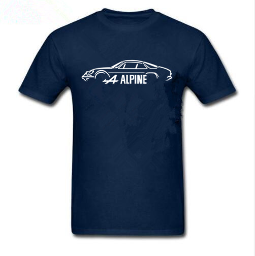 Fashion Summer Paried T Shirts O-Neck Short Renault Alpine A110 Inspired Classic Car T-Shirt Graphic Men T Shirt