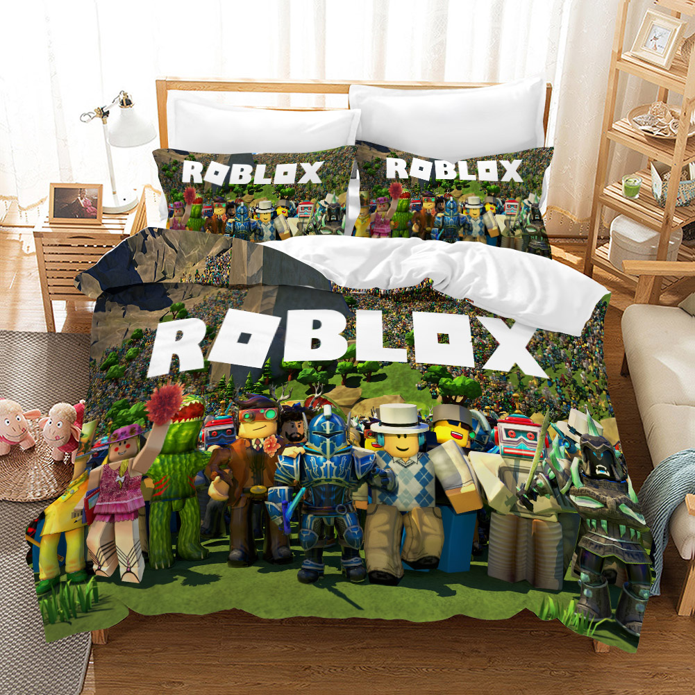 Dropshipping Boy Gife 3D Print Bedding Set Cartoon ROBLOX  Duvet Cover Set Home Textiles BOY GIFE Game Movie R0002