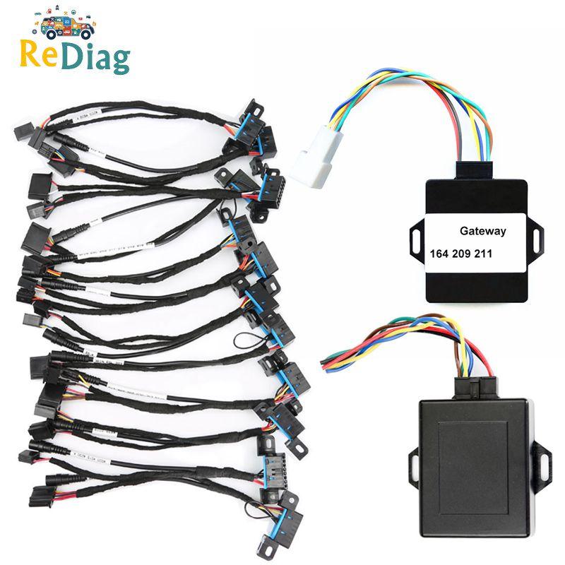 100% Origional EIS ELV Test 12 Cables For Mercedes For Benz Works Together With VVDI MB BGA TOOL+Gateway Emulator