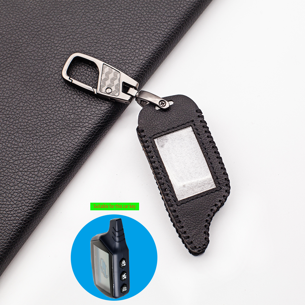 2-Way LCD Remote Soft Texture Leather Key Case Cover For Starline B9/B91/B6/A61/A91/V7 Russian Vehicle Security Car Alarm System