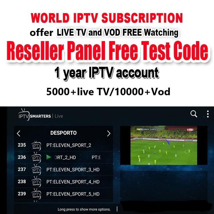 Iptv Account For Android TV Box 4K With Abonnement IPTV Subscription France Portugal Arabic UK IT
