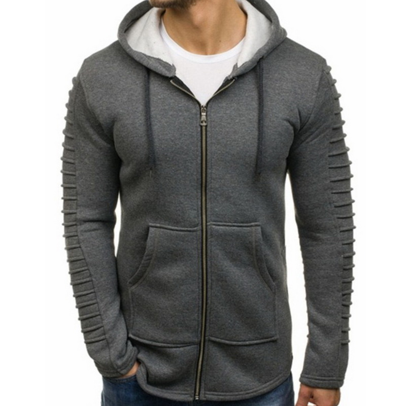WENYUJH 2019 Autumn Men Casual Hoodies Zipper Tops Male Fashion Long Sleeve Hoodie Men Jacket Plus Size 3XL Cotton Sweatshirt