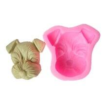 Форма для мыла «сделай сам» 3d мини головка собаки гипсовая