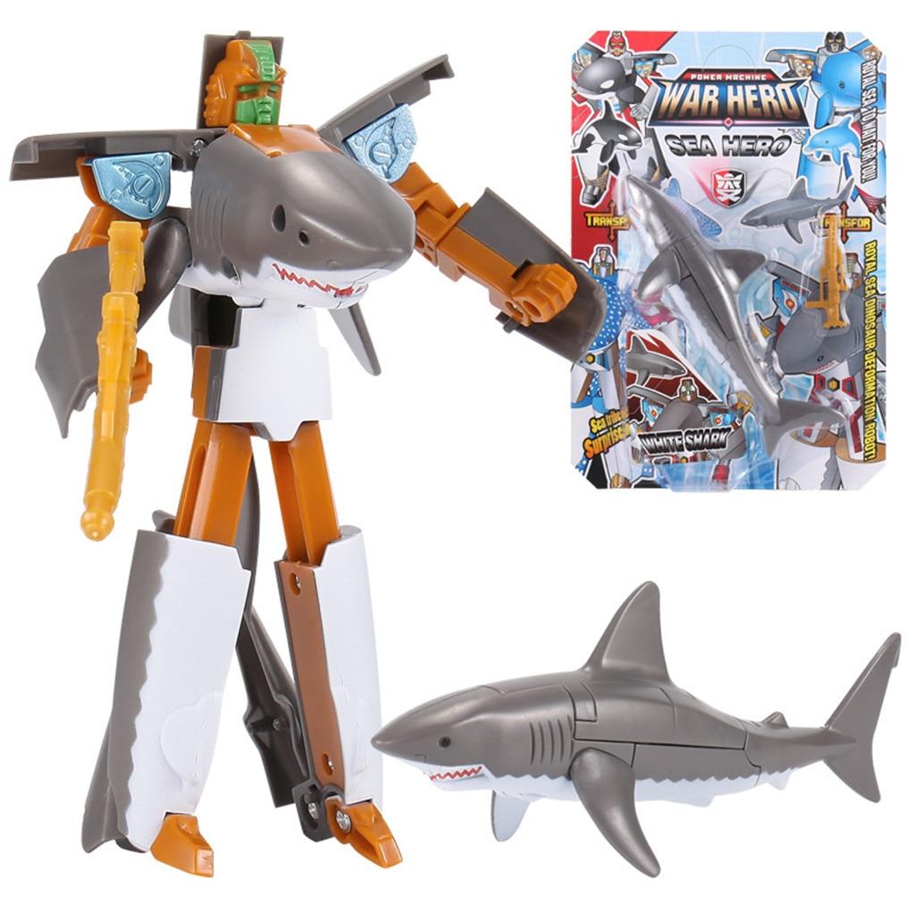 Children's Toy Transformer Robot Electronic Smart Pet Intelligent Shark Ocean Anime Figurine Gift for kids Dropshipping
