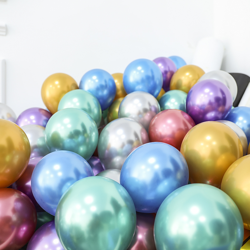 10 шт 5/10/12 дюймов глянцевые металлические жемчужные латексные шары толстые Хромированные Металлические цвета гелиевый воздух шары Globos декор для дня рождения-5