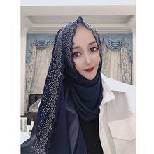 Hiyab bufanda de Chifón con corte láser para mujer, chal, chal, 180x75cm, colores a elegir, 10 Uds.