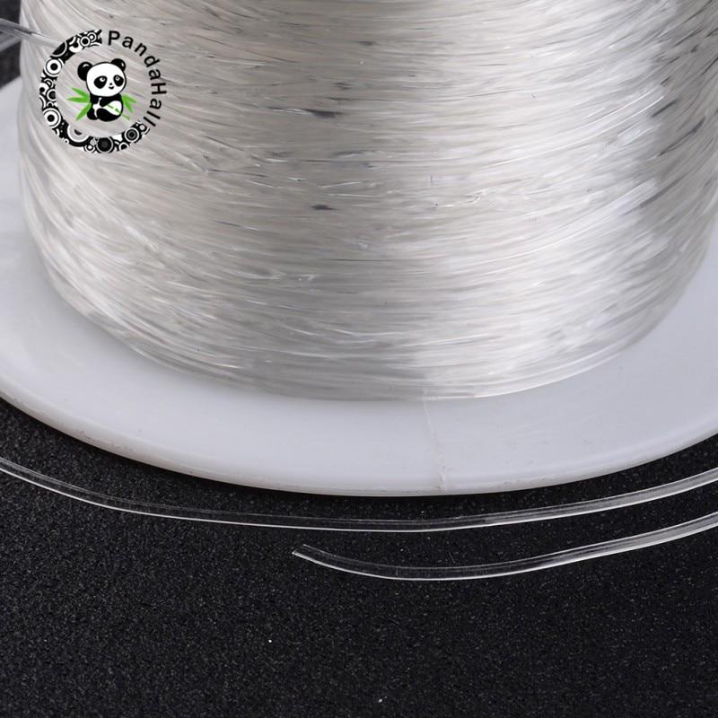 Pandahall 25 rouleaux fil de cristal élastique pour la fabrication de bijoux bricolage matériaux de cordage clair 0.6mm/0.7mm/0.8mm environ 100 m/rouleau-in Bijoux et composants from Bijoux et Accessoires    3