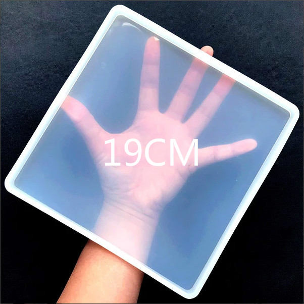 Big Square Coaster Silicone Mold Large Fluid Artst Mold Resin Coaster Making Epoxy Resin Crafts Make Your Own Coaster