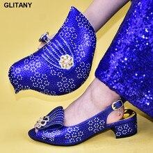 Новинка; Итальянские женские свадебные туфли высокого качества в африканском стиле; итальянские туфли с сумочкой в комплекте; вечерние туфли и сумочка в комплекте в нигерийском стиле