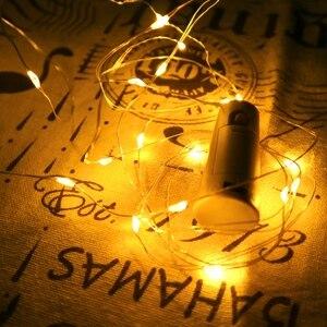 Image 3 - Butelka wina z oświetleniem LED 2M 20LEDs kształt korka drut miedziany kolorowy Mini ciąg światła do użytku wewnątrz pomieszczeń na zewnątrz ślub boże narodzenie światła